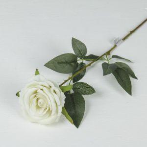 """Цветы искусственные """"Роза Ариозо"""" 9*70 см белая  3110194"""