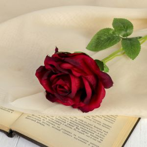 """Цветы искусственные """"Роза бланка"""" 7,5*55 см, красная   3933362"""