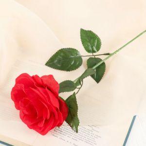 """Цветы искусственные """"Роза Глория"""" 9*60 см, красная 2566041"""