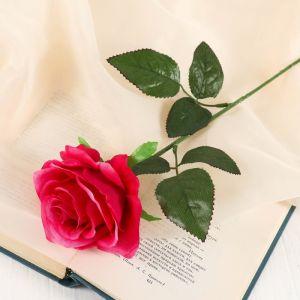 """Цветы искусственные """"Роза Глория"""" 9*60 см, малиновая 2566038"""