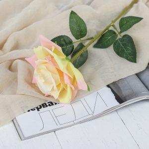 """Цветы искусственные """"Роза Гран При"""" 7*46 см, кремовый   3794243"""
