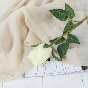 """Цветы искусственные """"Роза Карина"""" 4*46 см, белый   3794233"""