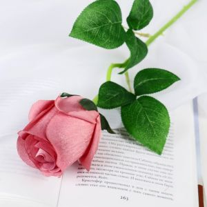 """Цветы искусственные """"Роза Натурэль"""" 6*44 см, грязно розовый   4642671"""