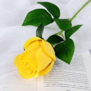 """Цветы искусственные """"Роза Натурэль"""" 6*44 см, жёлтый   4642668"""