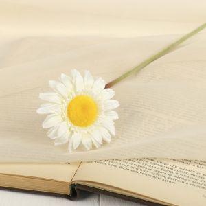 """Цветок искусственный """"Гербера Алмак"""" 8*44 см, белый   2248785"""
