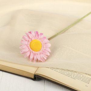 """Цветок искусственный """"Гербера Алмак"""" 8*44 см, розовый   2248783"""