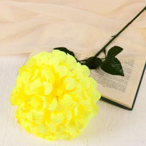 """Цветы искусственные """"Герань королевская"""", 16*60 см, жёлтый   4560213"""