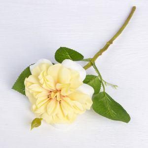 """Цветы искусственные """"Цветок шиповника"""" 8*26 см, жёлтый   3794252"""