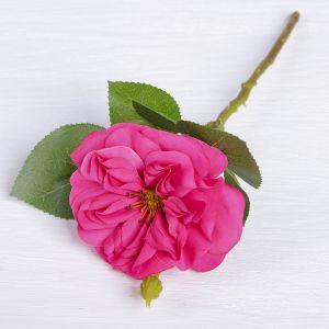 """Цветы искусственные """"Цветок шиповника"""" 8*26 см, малиновый   3794251"""