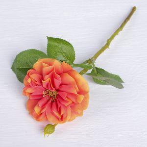 """Цветы искусственные """"Цветок шиповника"""" 8*26 см, оранжевый   3794253"""