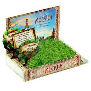 Растущая травка в открытке «Москва»