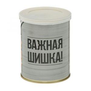 """Растущая травка в банке """"Важная шишка"""" (кедр, набор для выращивания) 2099125"""