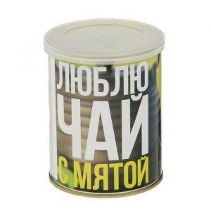 """Растущая травка в банке """"Я люблю чай с мятой"""" (мята, набор для выращивания) 2099114"""