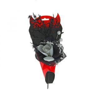 "Букет ""Вампир"" с пауками, цвет серебро 1052734"