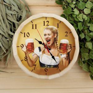 """Часы банные бочонок """"Добропаровъ. Время отдохнуть"""" 3722727"""