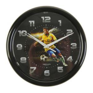 """Часы настенные круглые """"Футболист"""", чёрный обод, 24х24 см   2584156"""