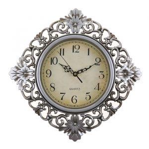"""Часы настенные, серия: Интерьер, """"Жанна"""", цвет серебро , 30х30 см 2307007"""