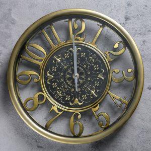 """Часы настенные, серия: Интерьер, """"Звана"""", золотые, d=30 см 2757019"""