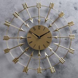 """Часы настенные, серия: Интерьер, """"Колчан"""", бронзовые, d=40 см 2723539"""