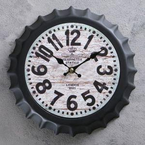 """Часы настенные, серия: Интерьер, """"Крышка"""" d=25 см, плавный ход  3620903"""