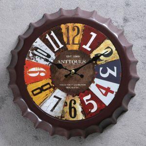 """Часы настенные, серия: Интерьер, """"Крышка"""", цветные цифры, d=25 см, плавный ход  3620904"""