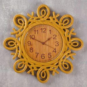 """Часы настенные, серия: Интерьер, """"Лепнина"""", завитки, бронзовые, d=30 см 2307019"""