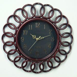 """Часы настенные, серия: Интерьер, """"Принцип"""", бордо d=35 см 3620777"""