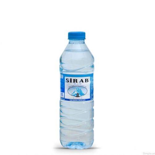 Sirab qazsız su 0,5 plastik