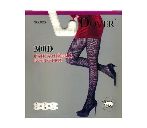 Женские колготки тёплые, шерсть-кашемир Dover 300Den S-L.DV623