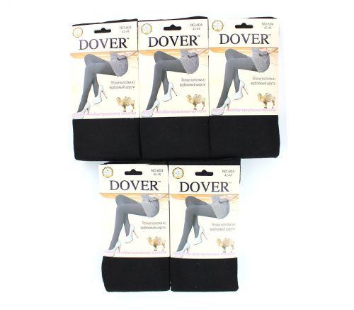 Женские колготки тёплые, шерсть-кашемир Dover Black 42-54 DV604