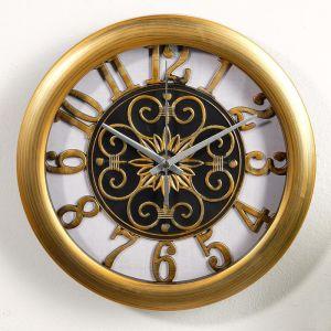 """Часы настенные, серия: Интерьер, """"Роана"""", d=25 см, под золото  3620792"""