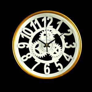 """Часы настенные, серия: Интерьер, """"Шестеренки"""", белые с золотом, d=24 3620899"""