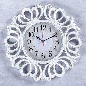 """Часы настенные, серия: Классика, """"Вермонт"""", белое золото, 45.5 см   4551251"""