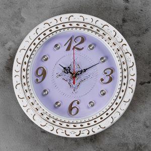 """Часы настенные, серия: Классика, """"Рококо"""" d=29 см, плавный ход  2581940"""