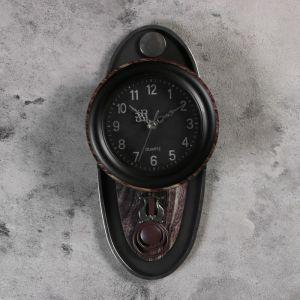 """Часы настенные, серия: Маятник, """"Цецелия"""", 17.5х35 см, коричневые 1205550"""