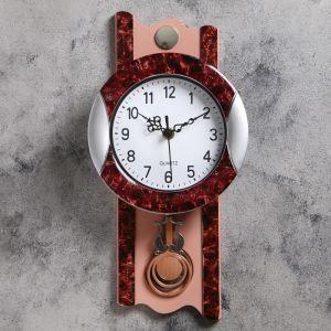 """Часы настенные, серия: Маятник, """"Элея"""", 17.5х35 см 1205551"""