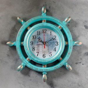 """Часы настенные, серия: Море, """"Маяк"""", бирюза, 36см   4551237"""