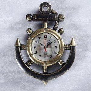 """Часы настенные, серия: Море, """"Маяк"""", цвет латуни, 38 см , микс 4551239"""