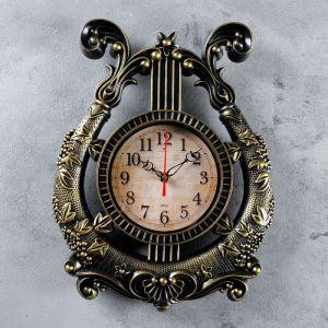 """Часы настенные, серия: Музыка, """"Арфа"""", 28х37 см 4551228"""