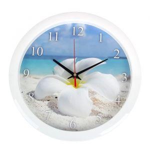 """Часы настенные круглые """"Цветок"""", 28х28 см 3967562"""