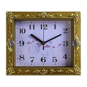 """Часы настенные, серия: Классика, """"Брилл"""", золотой,  21х3х18 см, микс 4233587"""