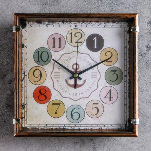 """Часы настенные, серия: Классика, """"Якорь"""" 24х24 см, дискретный ход   4620778"""