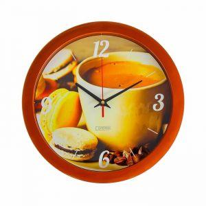 """Часы настенные, серия: Кухня, """"Кофе и макаруны"""", 28х28 см 2436866"""