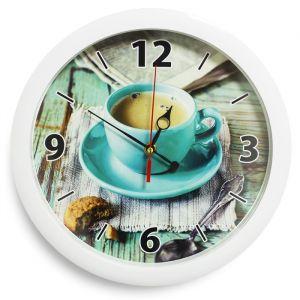 """Часы настенные """"Кофе"""", белый обод, 28х28 см"""