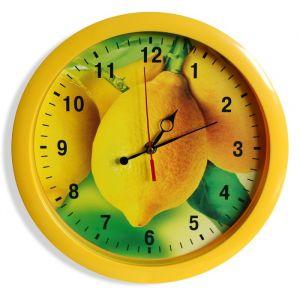 """Часы настенные """"Лимоны"""", жёлтый обод, 28х28 см"""