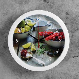 """Часы настенные, серия: Кухня, """"Осенний урожай"""", 28х28 см 2436421"""