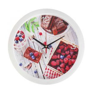 """Часы настенные, серия: Кухня, """"Ягодный завтрак"""", 28х28 см 2436863"""