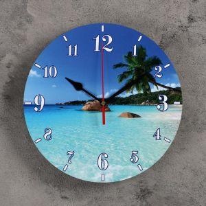 """Часы настенные, серия: Море, """"Райский остров"""", 24 см 3841483"""