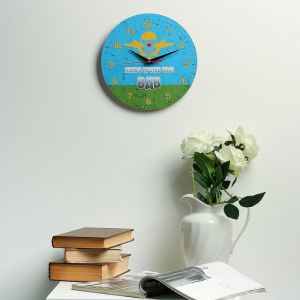 """Часы настенные, серия: Символика, """"ВДВ никто кроме нас"""", 24  см, микс 3571404"""