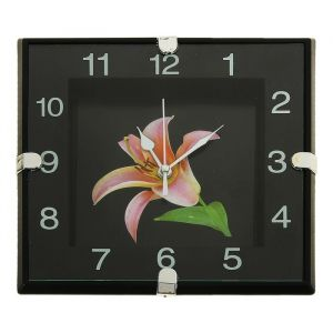 """Часы настенные, серия: Цветы, """"Лилия"""", 19х19 см 831338"""